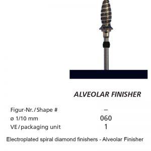 Electroplated spiral diamond finishers - Alveolar Finisher-0