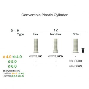 Osstem Convertible Plastic Cylinder-0